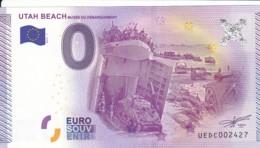 "Billet Touristique / Souvenir 0 €uro - 2015 -  FRANCE "" UTAH BEACH "" - EURO"