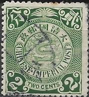 CHINA 1898 Dragon -  2c - Green FU - China