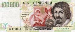 ITALIA   100000 LIRE  1995 P-117b   Firme: Fazio E Amici. - [ 2] 1946-… : Républic