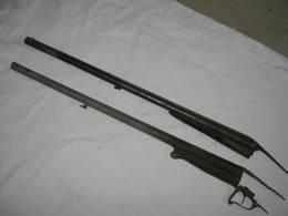 Ancienne Deux Canon Fusil Pouder Noire XIX , Percussion,canons Pour Pieces - Other