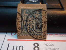 Timbre Sage 15 C Oblitéré. PARIS Bd HAUSSMAN 1896 - 1876-1898 Sage (Type II)