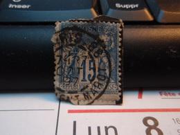 Timbre Sage 15 C Oblitéré. PARIS 86 CLEMENT-MAROT 1897 - 1876-1898 Sage (Type II)