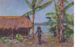 Art Card Peter Paul Muller Nude Native  Papua In Neuguinea Kolonialkrieg WW1 Feldpost 1918 - Papua New Guinea