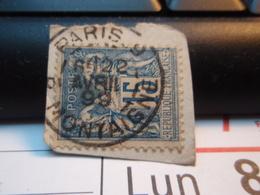 Timbre Sage 15 C Oblitéré. PARIS Rue MONTAIGNE 1899 - 1876-1898 Sage (Type II)