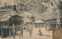 Neu Guinea Dorf Auf Seleo. Nude Natives .  German New Guinea Stamp To Cuba . Anton Mayer . Deltiology Club C.C.C. - Papua New Guinea