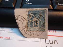 Timbre Sage 15 C Oblitéré. PARIS 9 - 1876-1898 Sage (Type II)