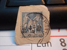Timbre Sage 15 C Oblitéré. PARIS Malesherbes - 1876-1898 Sage (Type II)