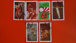 SCOTLAND - STAFFA - CINDERELLAS - VIGNETTES : (5)  XXI OLYMPIAD MONTREAL 1976 (2 AIRMAIL) + 1 Worldcup Munich 74-used - Cinderellas