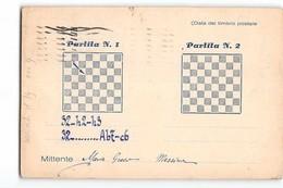 16393 02  PARTITA A SCACCHI - MESSINA X MILANO  - CHESS - Schach