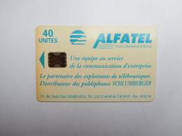 Télécarte , Alfatel Télécommunications , Agadir , Maroc - Marokko
