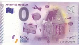"""Billet Touristique / Souvenir 0 €uro - 2015 -  FRANCE """" AIRBORNE MUSEUM """" - Essais Privés / Non-officiels"""