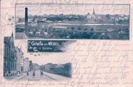 Allemagne, Holstein, Gruss Aus Wedel, Mühlenstrasse, Bahnhof, Chemin De Fer Et Train (13.2.1904) - Wedel