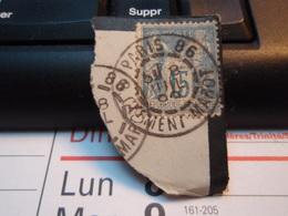Timbre Sage 15 C Oblitéré. PARIS 86 CLEMENT-MAROT 1895 - 1876-1898 Sage (Type II)