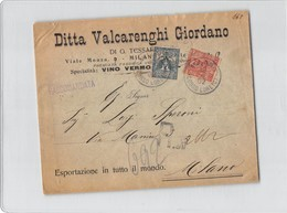 11673 MILANO VALCARENGHI VINO VERMOUTH - Marcophilie