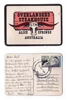 Sous-bock Bière Australia Overlanders Steakhouse Timbre 1994 Beer Mat Coaster Bierdeckel - Sous-bocks