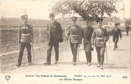 Dépt 03 - VICHY - XXXIXè Fête Fédérale De Gymnastique (10, 11, 12, 13 Mai 1913) - Les Officiers Étrangers - (ELD - VDC) - Vichy