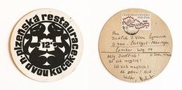 Sous-bock Bière Unique Brasserie Timbre 1969 Tácek Beer Mat Coaster Bierdeckel - Sous-bocks