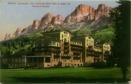 SUDTIROL - DOLOMITEN - DAS KARERSEE HOTEL - 1650m GEGEN DIE ROTWAND GRUPPE - EDIT LORENZ FRANZL BOZEN - 1910s (BG6849) - Bolzano (Bozen)
