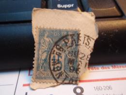 Timbre Sage 15 C Oblitéré. PARIS - 1876-1898 Sage (Type II)