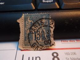 Timbre Sage 15 C Oblitéré. PARIS 90 1900 - 1876-1898 Sage (Type II)