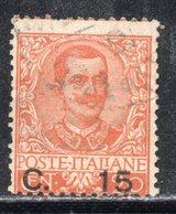 Rox 1905 Regno D'Italia Floreale 15c Su 20c Usato - 1900-44 Vittorio Emanuele III