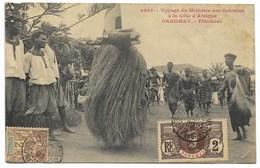 Voyage Ministre Des Colonies-Féticheur...1909  Animé  (coin Pli) - Dahomey