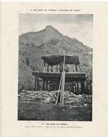 Thibet Habité . Dans Les Bois , Un Charten. Monument Religieux . Temple . - Tibet