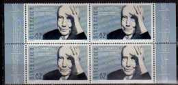 2014 Austria -150 Birthday Of Richard Strauss - Block Of 4 Of 1 V MNH** MiNr. 3144 Music, Composer, Zaratustra - 1945-.... 2nd Republic