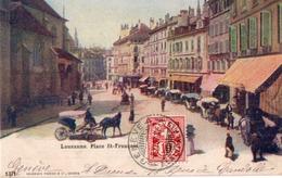 CPA - LAUSANNE - Place St François - VD Vaud