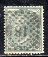 Rox 1863 Regno D'Italia VEII 5c Usato - Oblitérés