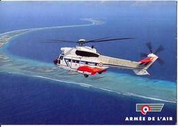 """Hélicoptère Aviation Super Puma DE L'Etom 82 """"Maine""""  Armée De L'Air - Helicópteros"""