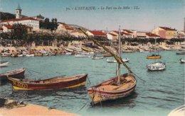13 MARSEILLE Les Barques Du Port De L'Estaque Vu Du Môle Carte Colorisée - L'Estaque