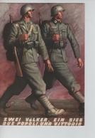 76PR/ Deutsches Reich PK Feldpost 2223 31/1/1942 Militär Zwei Völker , Ein Sieg / Due Popoli  , Una Vittoria - Guerre 1939-45
