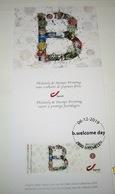 Mystamp** Philately Geschenk Met De Uitgiftezegel V/d B-Welcomeday Bij BPost Om De Collectie 2020 Voor Te Stellen - Documents De La Poste