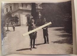 1916 Corfou Roi Pierre 1er De Serbie Et Le Prince Alexandre Futur Roi De Yougoslavie  Tranchèe Poilu 1914 1918 WW1 14/18 - Guerra, Militari