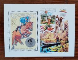 CONGO Equitation, Jeux Olympiques ATLANTA 1996. Un Bloc De Luxe  ** MNH - Estate 1996: Atlanta