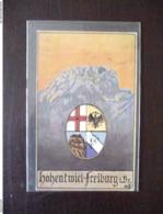 Hohentwiel Freiburg I. Br. Studentika Künstlerkarte 1912 ? - Freiburg I. Br.