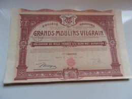 GRANDS MOULINS VILGRAIN (1931) Nancy - Azioni & Titoli
