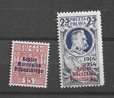 1935 MNH Poland, Michel 299-300 Postfris** - 1919-1939 République