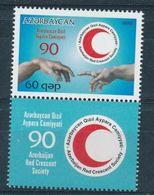 Azerbaidjan 2010  Red Crescent Red Cross Croix Rouge  MNH - Premio Nobel