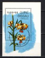 GUINEA BISSAU - 1989 - Lilium Pyrenaicum - SOUVENIR SHEET - USATO - Guinea-Bissau