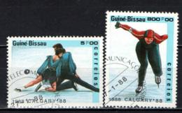GUINEA BISSAU - 1988 - OLIMPIADI INVERNALI DI CALGARY - USATI - Guinea-Bissau