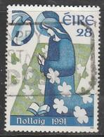 Ireland 1991 Christmas Stamps 28 P Multicoloured SW 785 O Used - 1949-... Republic Of Ireland