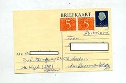 Carte Postale 10 Reine + Chiffre Flamme - Entiers Postaux