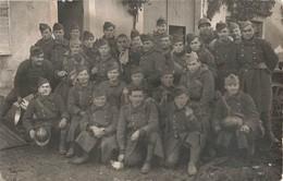 Guerre 1939 1945 Cpa Carte Photo Photographie Groupe Militaires Soldats Athienville 1939 - Guerre 1939-45