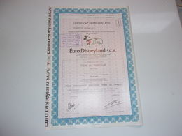 EURO DISNEYLAND (1 Action) - Unclassified