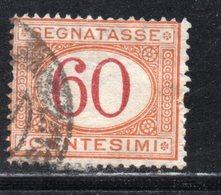 Rox 1890 Regno D'Italia Segnatasse 60c  Usato - 1878-00 Umberto I
