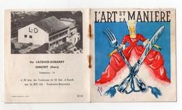 """Gimont (32 Gers) Mode D'emploi Couleur LACROIX DUBARRY """"l'art Et La Manière""""  Conserves De Foie Gras 1956 (PPP21260) - Advertising"""