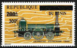 Benin Bénin Overprint Surchargé 2008 - Locomotive Stephensonlocomotive Stephenson - Mi 1426 CV 70 Euros - MNH ** - Eisenbahnen