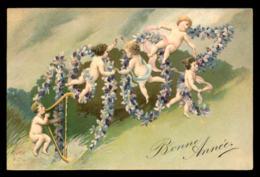 FANTAISIE - ANNEE 1907 - MYOSOSTIS - BEBES - CARTE GAUFREE - Fantaisies